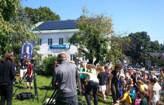 Shepherdstown Presbyterian Church, Solar Panel Ribbon Cutting
