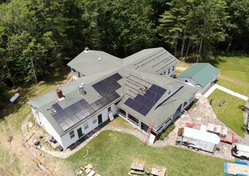 Roof Drone shot Camp Waldo