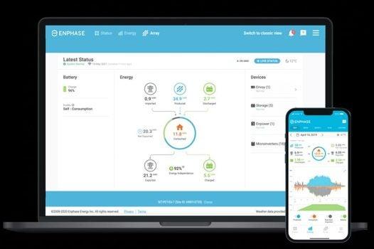 Enphase Solar Panel Monitoring App